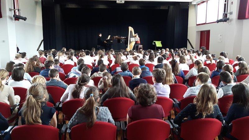concerto d'Arpa alla Scuola Primaria L'Arca di Legnano